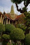 Грандиозный дворец (Wat Phra Kaeo) в Бангкоке, Таиланде Стоковое фото RF