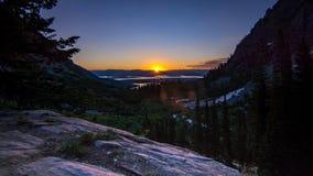 Грандиозный восход солнца каньона Paintbrush национального парка Teton Стоковые Фото