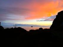 грандиозный заход солнца Стоковая Фотография
