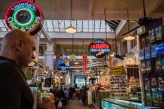 Грандиозный интерьер центрального рынка Стоковое фото RF