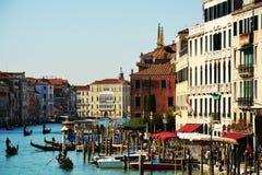 Грандиозный канал, Венеция, Италия, Европа стоковые фотографии rf