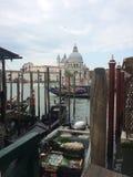 Грандиозный канал Венеция Италия Стоковая Фотография RF