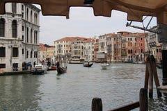 Грандиозный канал, Венеция Италия Стоковое фото RF