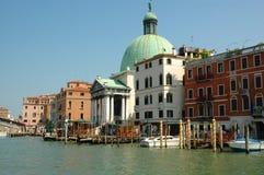 Грандиозный канал в Венеции Италии Стоковые Фотографии RF