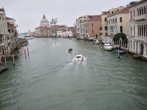 Грандиозный канал в Венеции, Италии Стоковые Изображения RF