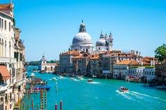 Грандиозный канал в Венеции, Италии Стоковые Фотографии RF