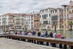 Грандиозный канал в Венеции, Италии Стоковое Фото