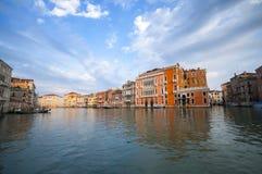 Грандиозный канал в Венеции, Италии Стоковая Фотография