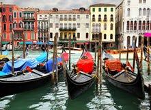 Грандиозный канал в Венеции Стоковая Фотография