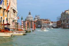 Грандиозный канал в Венеции Стоковое Изображение