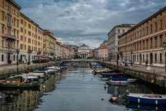 Грандиозный канал, Триест, Италия Стоковая Фотография RF