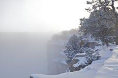 Грандиозный каньон в зиме Стоковое Изображение RF