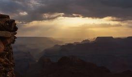 Грандиозный каньон на заходе солнца Стоковое Фото