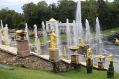 Грандиозный каскад, грандиозный дворец Peterhof Стоковое Фото