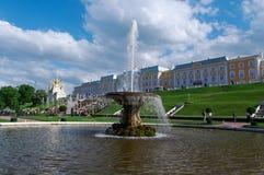 Грандиозный каскад Дворец Peterhof Стоковое Изображение RF