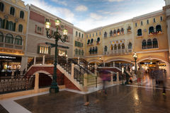 Грандиозный комплекс развлечений венецианское в Макао. Стоковые Фото