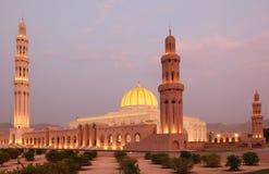 грандиозный маскат Оман мечети Стоковое Изображение