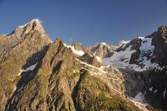 Грандиозный массив Jorasses, итальянка Альпы, Aosta Valley. Стоковые Фотографии RF