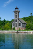 Грандиозный маяк острова, главное озеро, Мичиган, США Стоковые Изображения