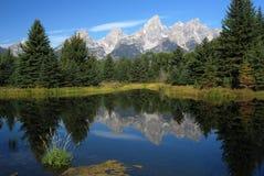 Грандиозный национальный парк Teton, Вайоминг, США Стоковые Фотографии RF