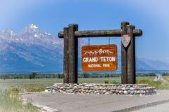 Грандиозный национальный парк Teton Стоковая Фотография