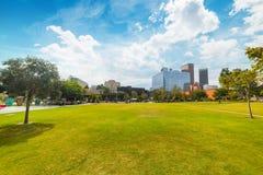 Грандиозный парк в l A городск стоковые фотографии rf