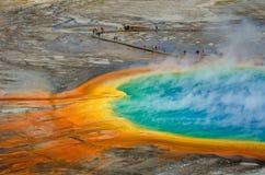 Грандиозный призменный национальный парк Йеллоустона бассейна Стоковое Изображение RF