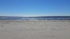 Грандиозный пляж острова (Мексиканский залив) Стоковые Изображения