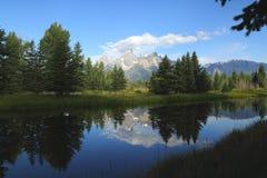 Грандиозный рассвет Teton Стоковые Изображения