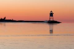 Грандиозный свет Lake Superior Cook County Минесота США Marais стоковые фото