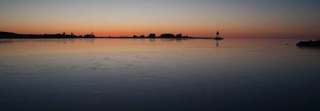 Грандиозный свет Lake Superior Cook County Минесота США Marais стоковое фото