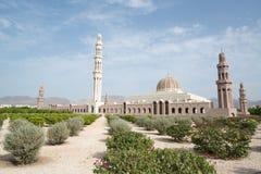грандиозный султан qaboos маската мечети Стоковые Изображения RF