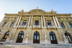 Грандиозный театр de Geneve/грандиозный театр Женевы Стоковая Фотография