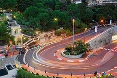 Грандиозный hairpin гостиницы в Монако Стоковое Изображение