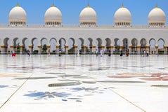 грандиозный zayed шейх мечети Стоковое Изображение RF