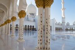 грандиозный zayed шейх мечети Стоковое фото RF
