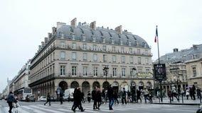 Грандиозн Гостиница du Жалюзи, Париж, Франция, акции видеоматериалы