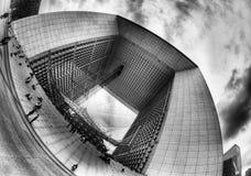 Грандиозн Arche de Ла Оборона, Париж Стоковое фото RF