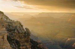 Гранд-каньон на заходе солнца Стоковые Фото