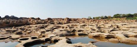 Гранд-каньон Сиама с Меконгом имя Сэм Phan Bok (три тысячи отверстий) на Ubon Ratchathani Таиланде Стоковое Изображение RF