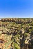 Гранд-каньон, южная оправа, солнечный день с голубым небом Стоковое Изображение RF