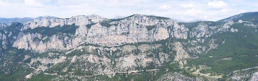 Гранд-каньон du Verdon, Франция Стоковая Фотография