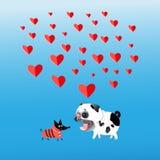 Графики влюбленн в собаки Стоковые Изображения