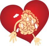 графики мозга любят красный цвет Стоковые Изображения