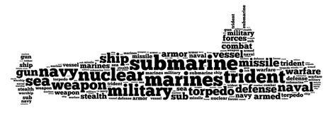 Графики подводной лодки Стоковые Фото