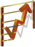 графики финансов Иллюстрация вектора