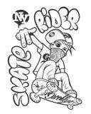 Графики футболки всадника конька Бесплатная Иллюстрация