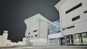 графики 3D городской среды четверть Стоковые Фотографии RF