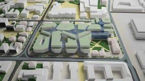 графики 3D городской среды четверть Стоковые Изображения