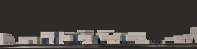 графики 3D городской среды четверть Стоковое Изображение